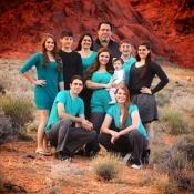 Knowles Family Photos 2012 at Calico Basin at Redrock