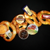 Luk's Soft Pretzels - Dipping Sauces and Pretzels