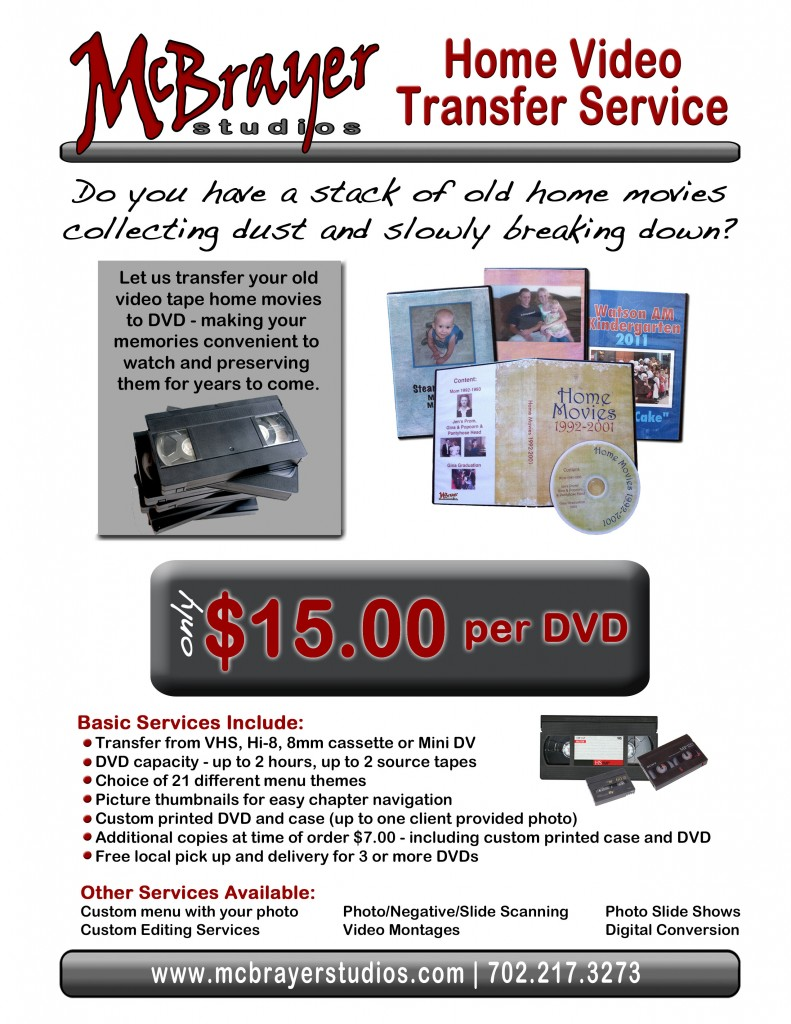 Video conversion flyer