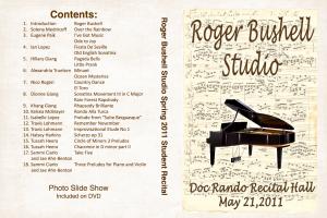 Bushell 2011 spring recital dvd case