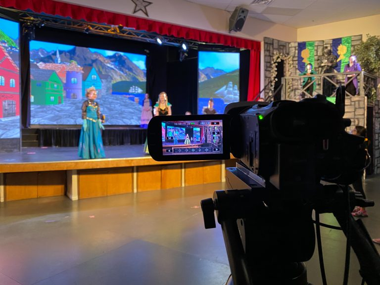 Filming at Broadway Kids Academy